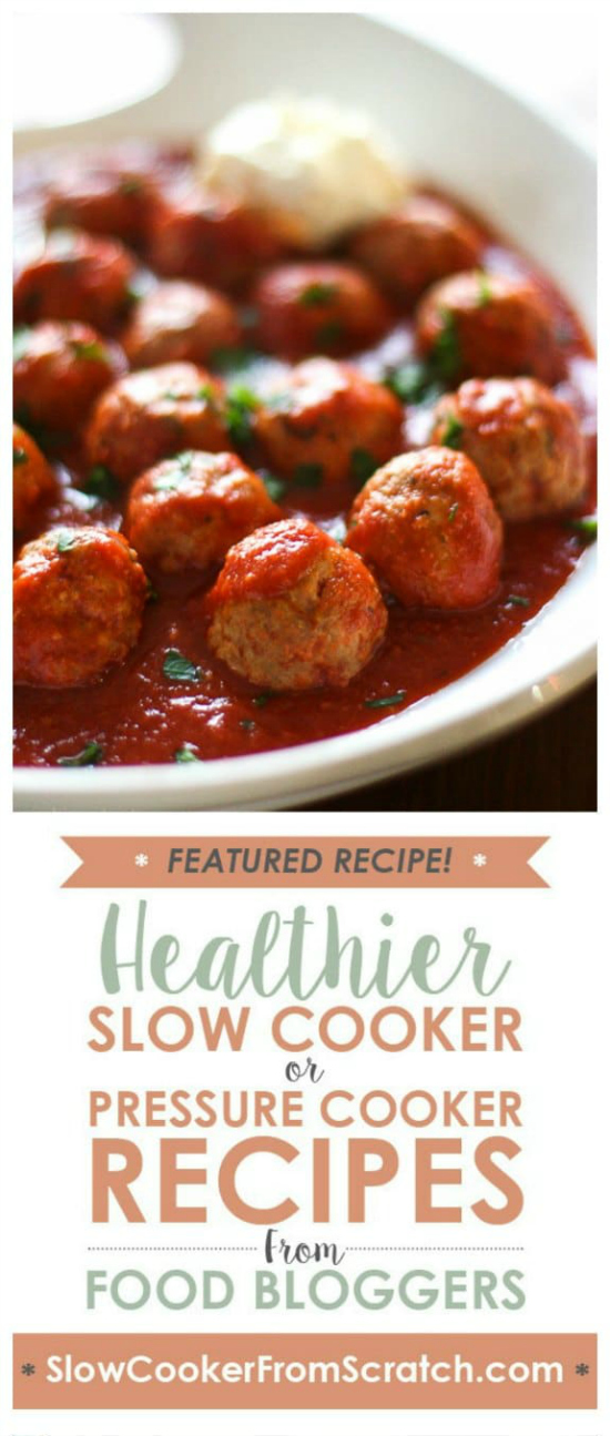 Crock Pot Italian Turkey Meatballs from Skinnytaste on Slow Cooker or Pressure Cooker