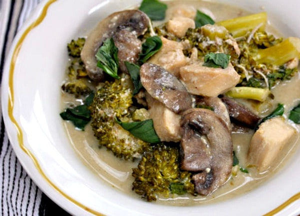 Slow Cooker Thai Green Curry Chicken with Broccoli and Mushrooms from The Perfect Pantry