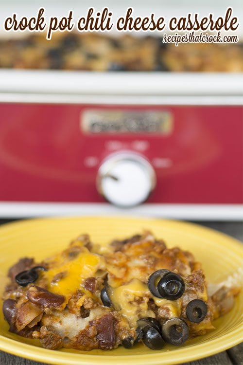 Crock Pot Chili Cheese Casserole from Recipes that Crock