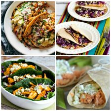 Four Fabulous Buffalo Chicken Tacos Recipes photo collage