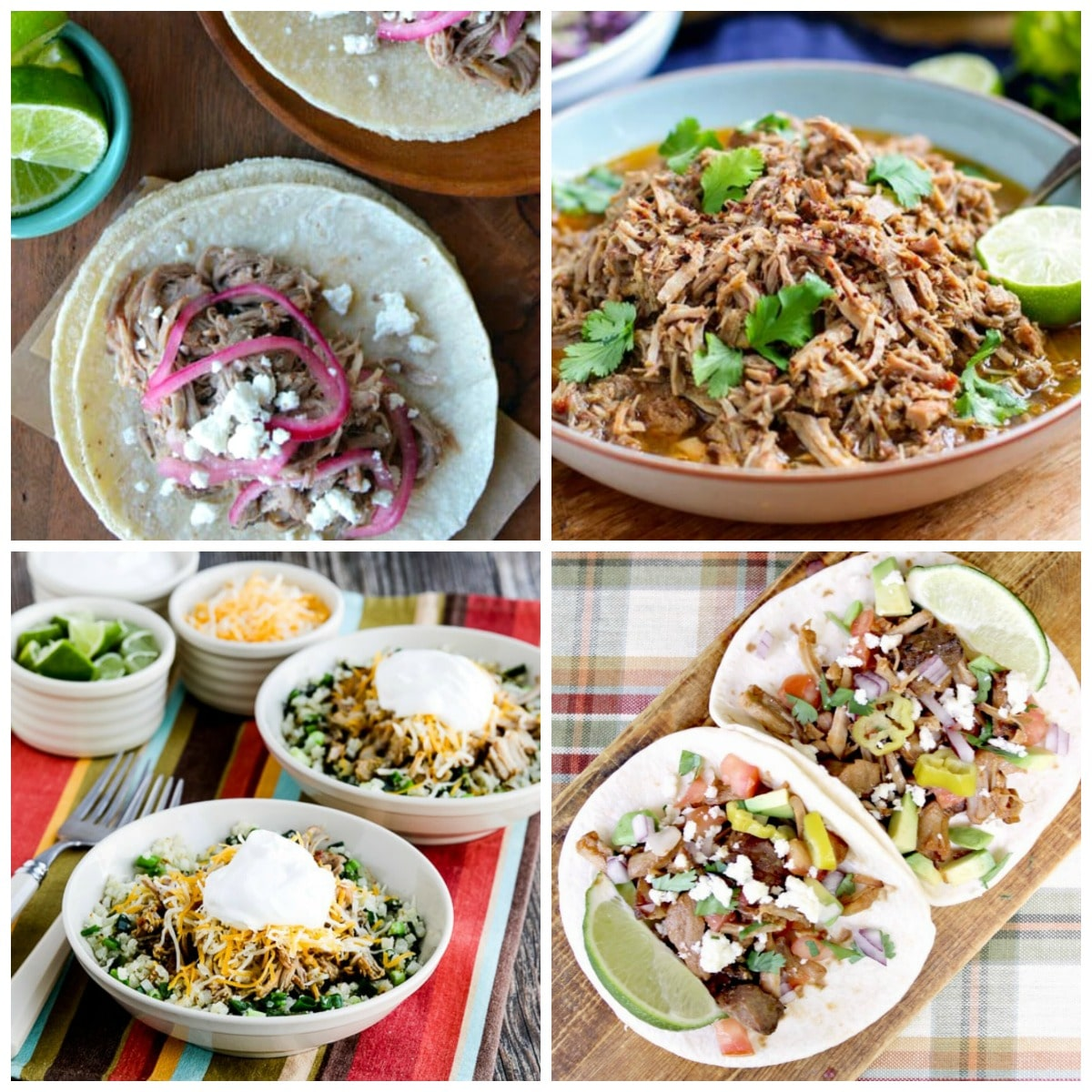 Slow Cooker and Instant Pot Pork Tacos second collage