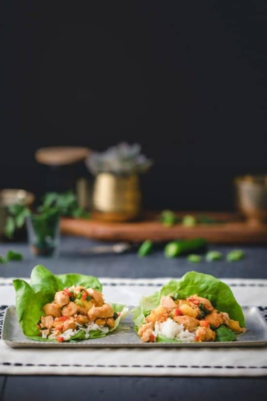 The BEST Instant Pot Lettuce Wraps featured on Slow Cooker or Pressure Cooker at SlowCookerFromScratch.com