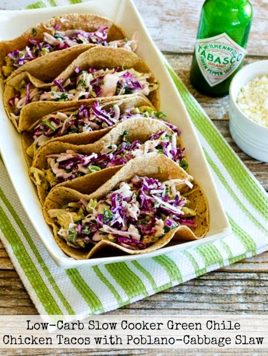 65+ Amazing Beef, Pork, and Chicken Slow Cooker Tacos Recipes from Food Bloggers found on Slow Cooker or Pressure Cooker