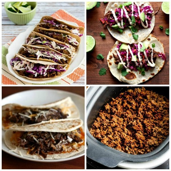 Amazing Slow Cooker and Instant Pot Beef Tacos collage photo