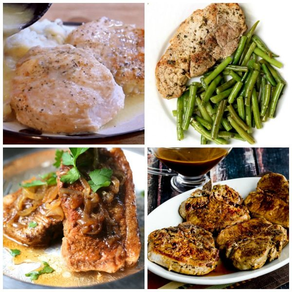The BEST Instant Pot Pork Chops top photo collage