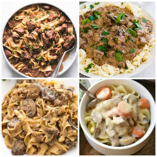 The BEST Instant Pot Beef Stroganoff photo collage
