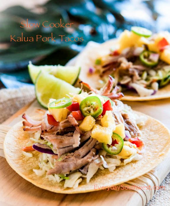 Four Fabulous Recipes for Kalua Pork from Slow Cooker or Pressure Cooker at SlowCookerFromScratch.com