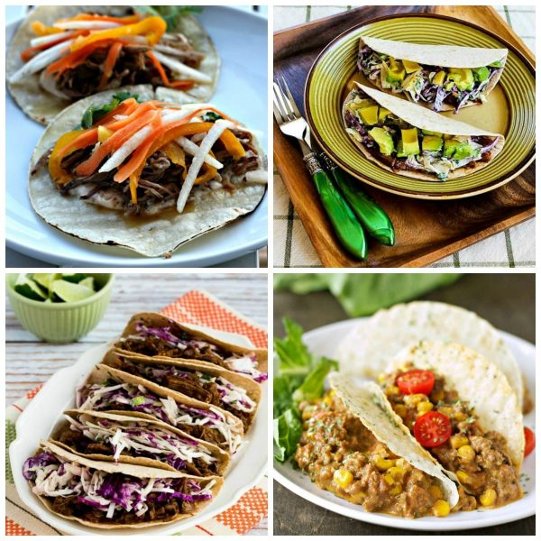 The Best Slow Cooker Tacos Recipes collage2