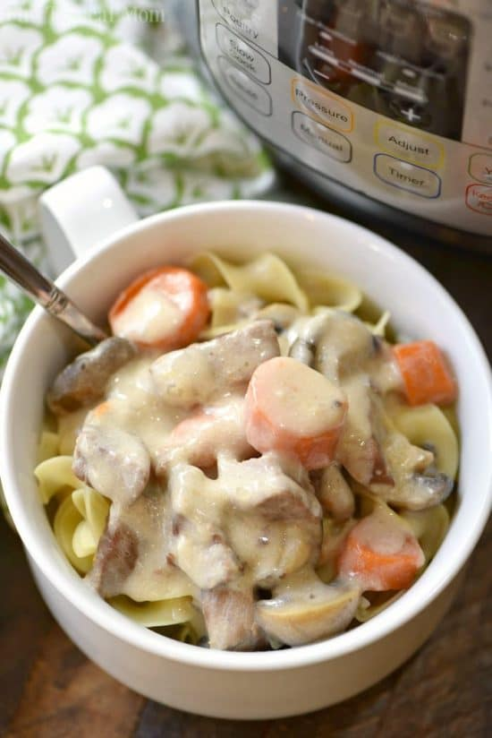Easy Instant Pot Beef Stroganoff from The Typical Mom