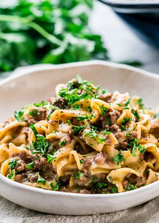 The BEST Instant Pot Stroganoff Recipes featured on Slow Cooker or Pressure Cooker at SlowCookerFromScratch.com
