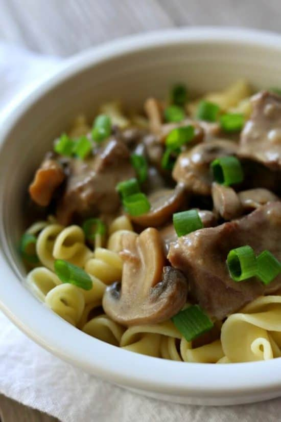 Instant Pot Beef Stroganoff from 365 Days of Slow + Pressure Cooking
