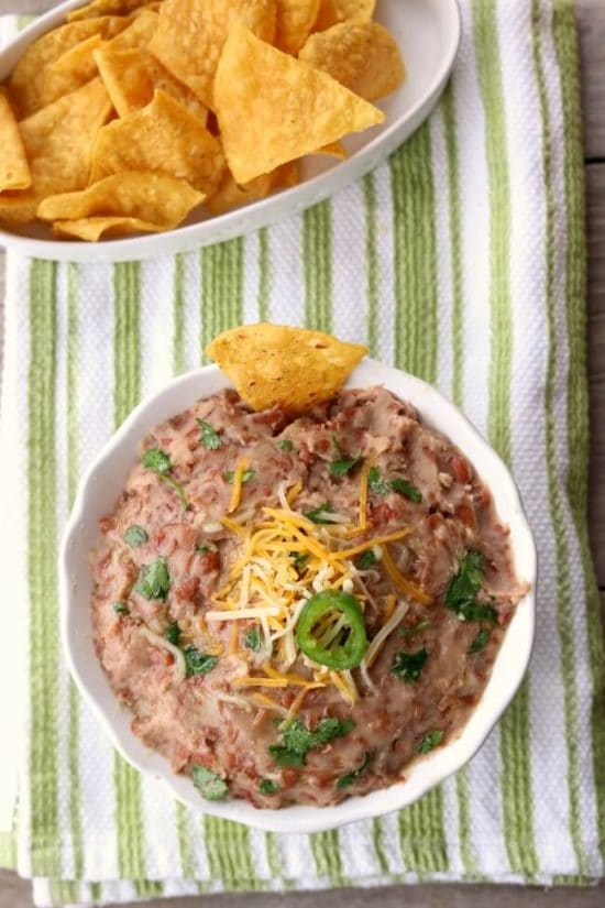 The BEST Slow Cooker or Instant Pot Refried Beans found on Slow Cooker or Pressure Cooker
