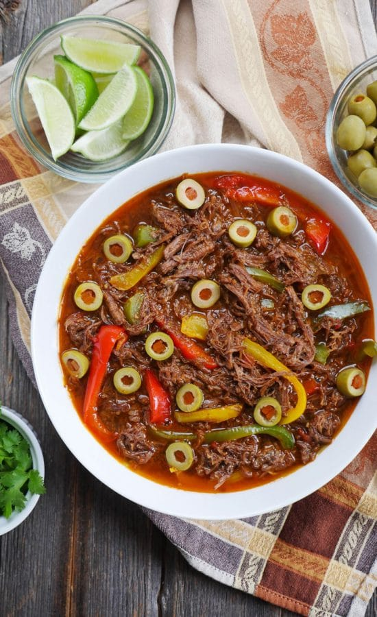 Instant Pot or Slow Cooker Cuban Beef Recipes Your Family Will Love! featured on Slow Cooker or Pressure Cooker at SlowCookerFromScratch.com