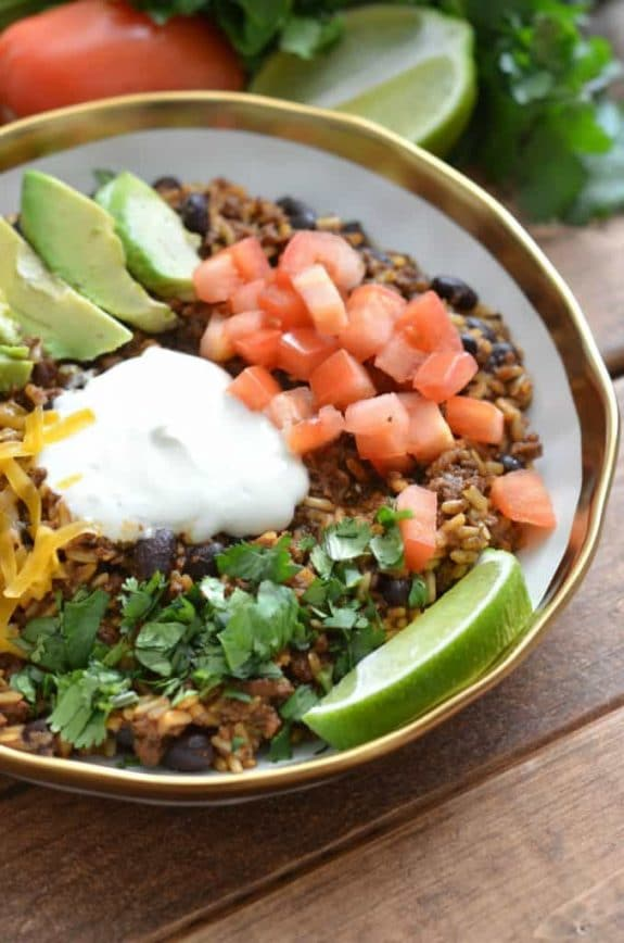 Instant Pot Burrito Bowls for Easy Dinners from Slow Cooker or Pressure Cooker at SlowCookerFromScratch.com