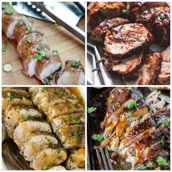 Slow Cooker and Instant Pot Pork Tenderloin Recipes top photo collage