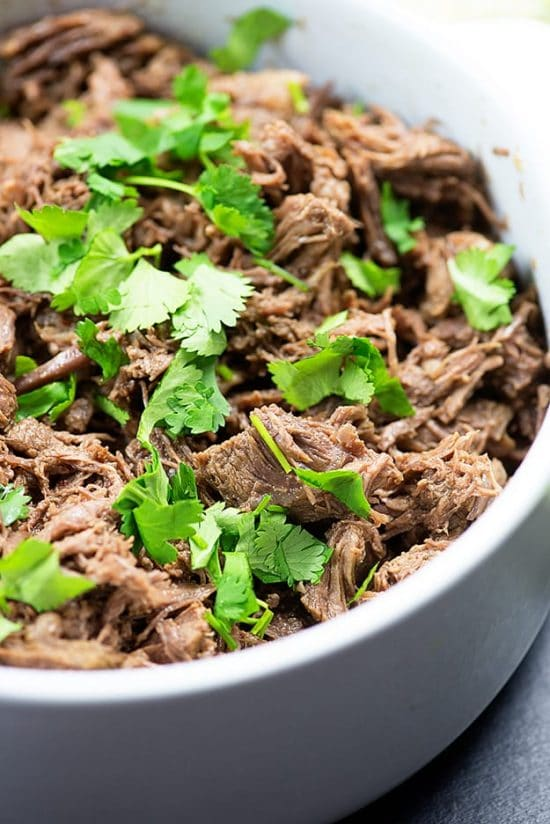 The BEST Instant Pot Barbacoa Beef found on Slow Cooker or Pressure Cooker at SlowCookerFromScratch.com