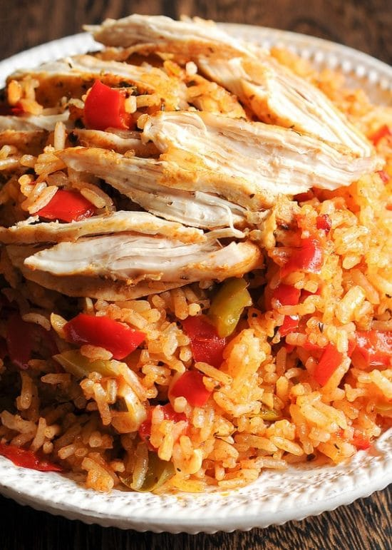 Instant Pot Chicken and Rice for Easy Family Dinners found on Slow Cooker or Pressure Cooker at SlowCookerFromScratch.com