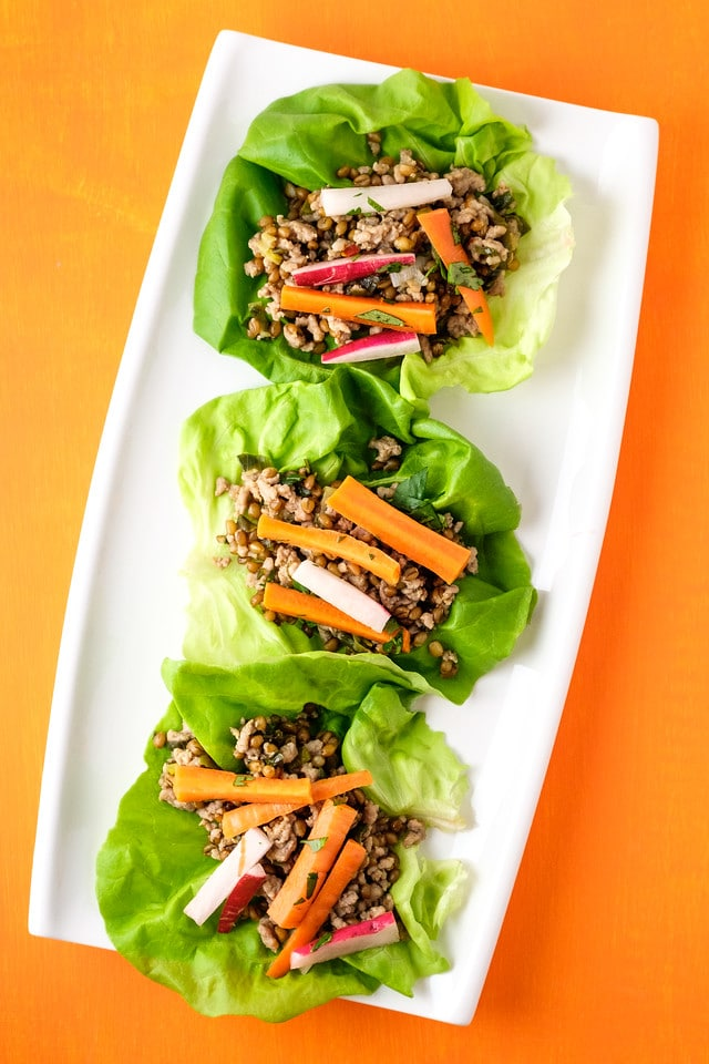 Instant Pot Pork Lettuce Wraps from Sidewalk Shoes