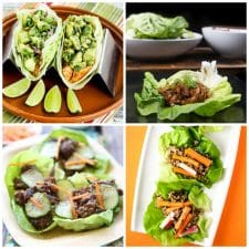 The BEST Instant Pot Lettuce Wraps top collage