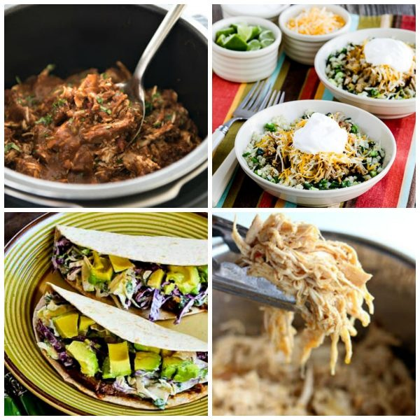 Slow Cooker or Instant Pot Mexican Shredded Beef, Chicken, or Pork on Slow Cooker or Pressure Cooker