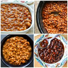 Slow Cooker Baked Beans Recipes top collage photo