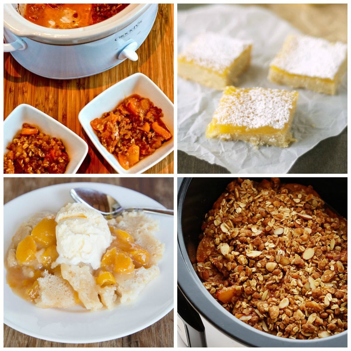 Slow Cooker Desserts with Fruit photo collage