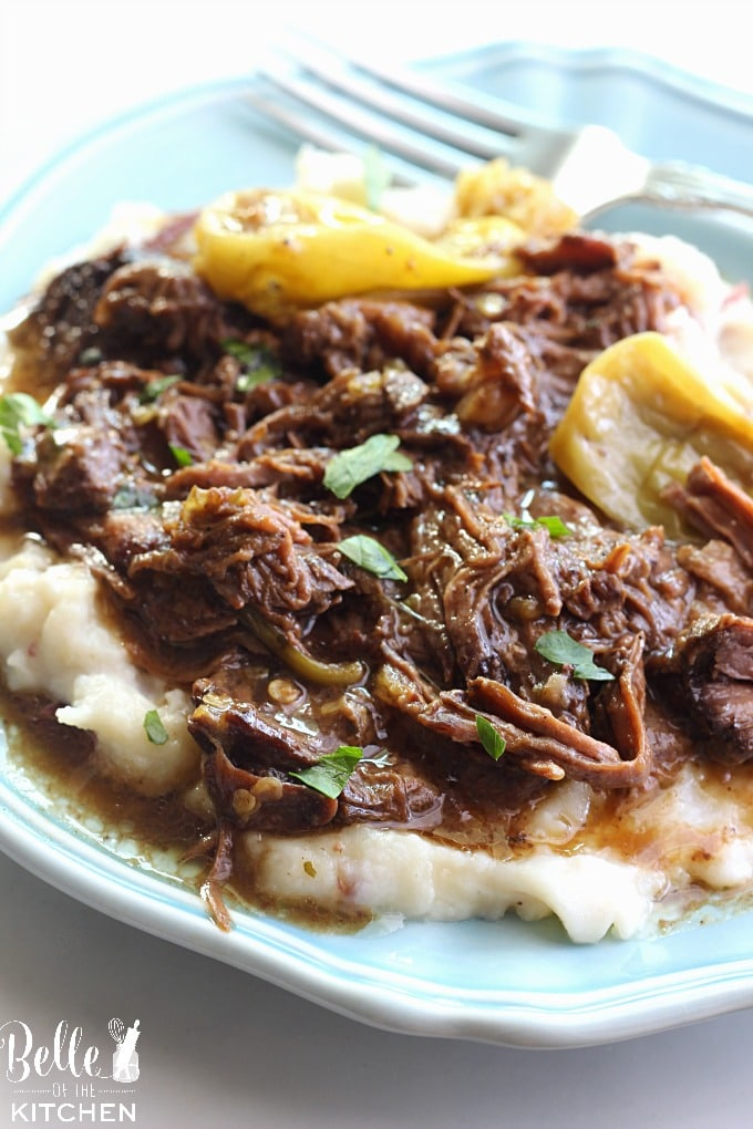 The BEST Slow Cooker and Instant Pot Mississippi Roast Recipes featured on Slow Cooker or Pressure Cooker at SlowCookerFromScratch.com