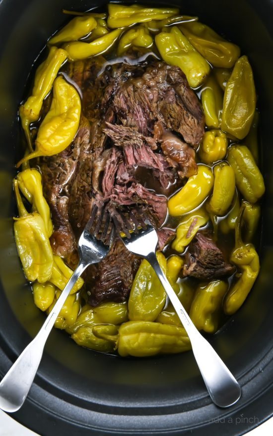 Slow Cooker Mississippi Roast Recipe from Add a Pinch