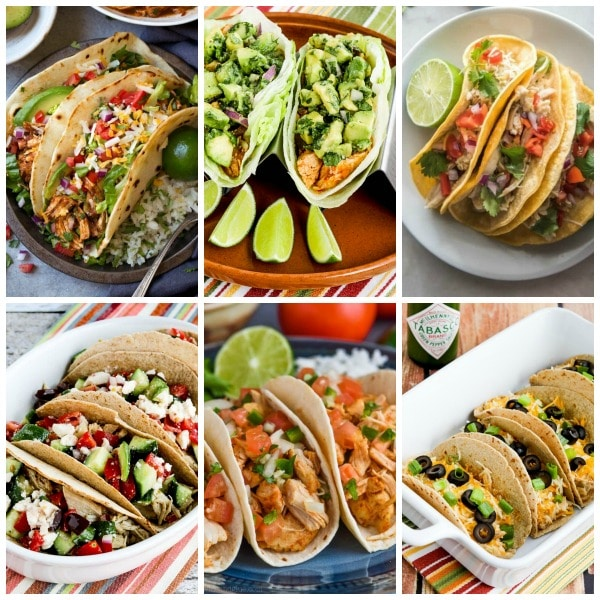 Food Bloggers BEST Instant Pot Chicken Tacos top collage image