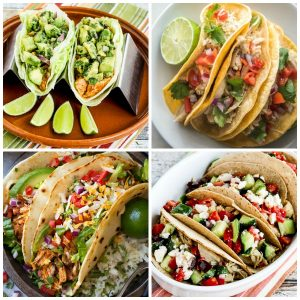 Food Bloggers BEST Instant Pot Chicken Tacos collage photo