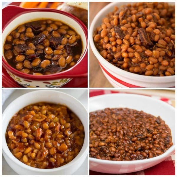 The BEST Instant Pot Baked Beans top photo collage