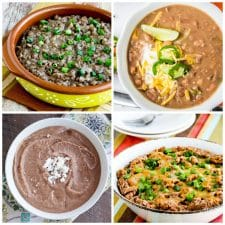 Instant Pot or Slow Cooker Recipes for Mexican Beans top photo collage