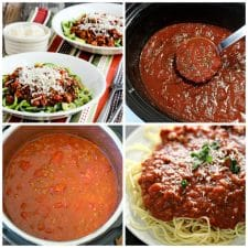 Slow Cooker and Instant Pot Pasta Sauce Recipes top photo collage