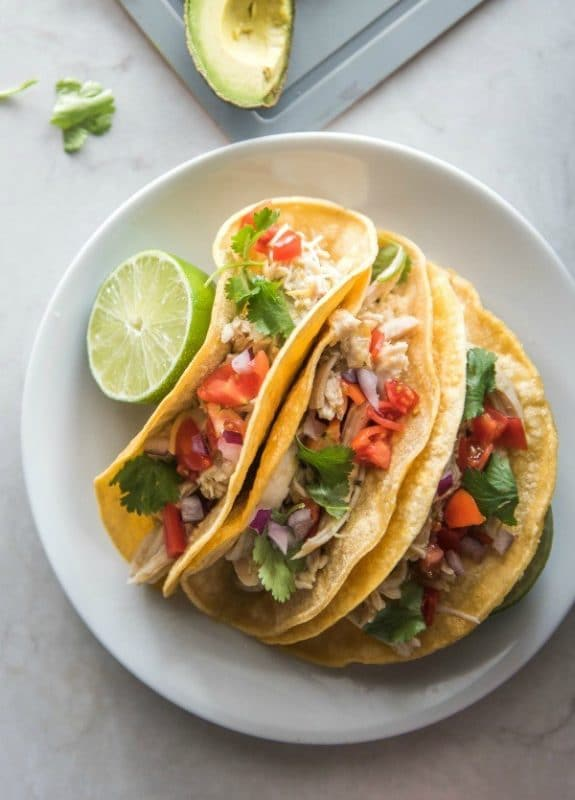Instant Pot Chicken Ranch Tacos from Mountain Mama Cooks