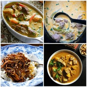 Slow Cooker and Instant Pot Beef Curry Recipes photo collage