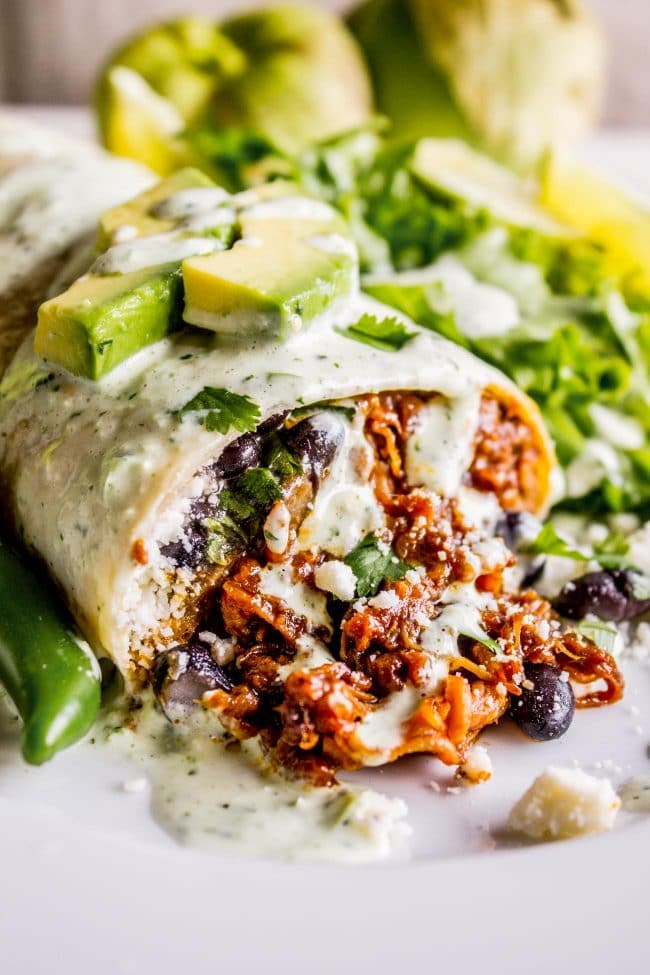 Slow Cooker or Instant Pot Cafe Rio Shredded Sweet Pork for Burritos from The Food Charlatan