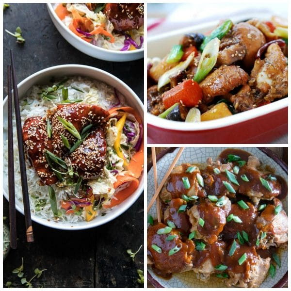 Three Tempting Recipes for Korean Chicken photo collage