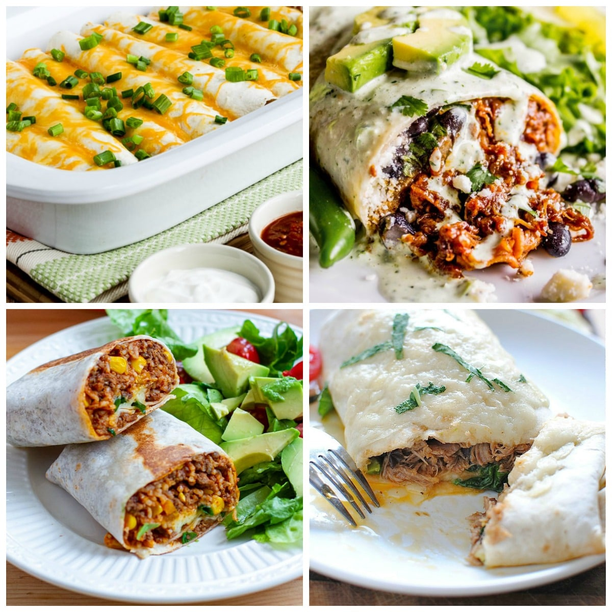 Slow Cooker or Instant Pot Burritos top collage photo