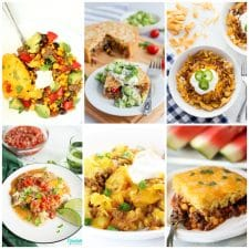 Slow Cooker or Instant Pot Recipes for Tamale Pie top photo collage