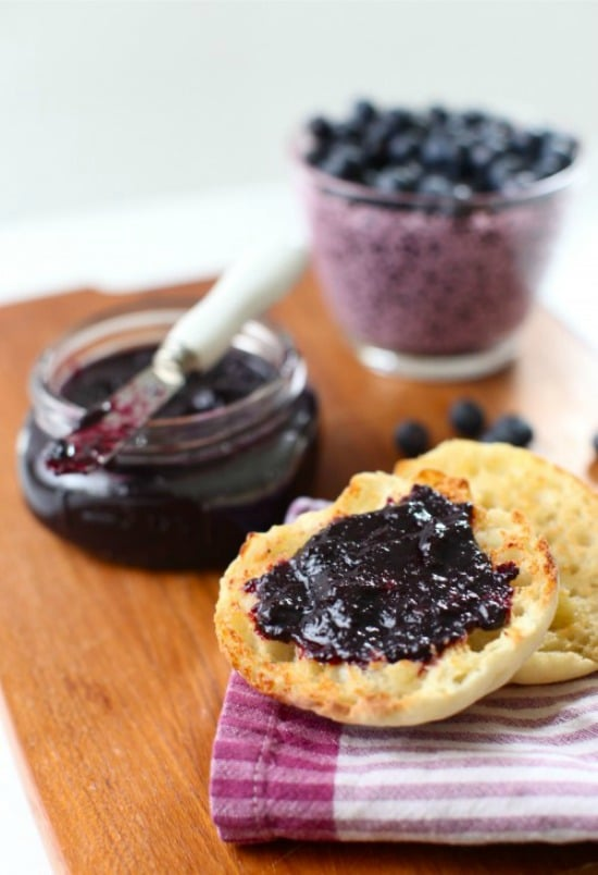 Slow Cooker Blueberry Plum Butter from Simple Bites