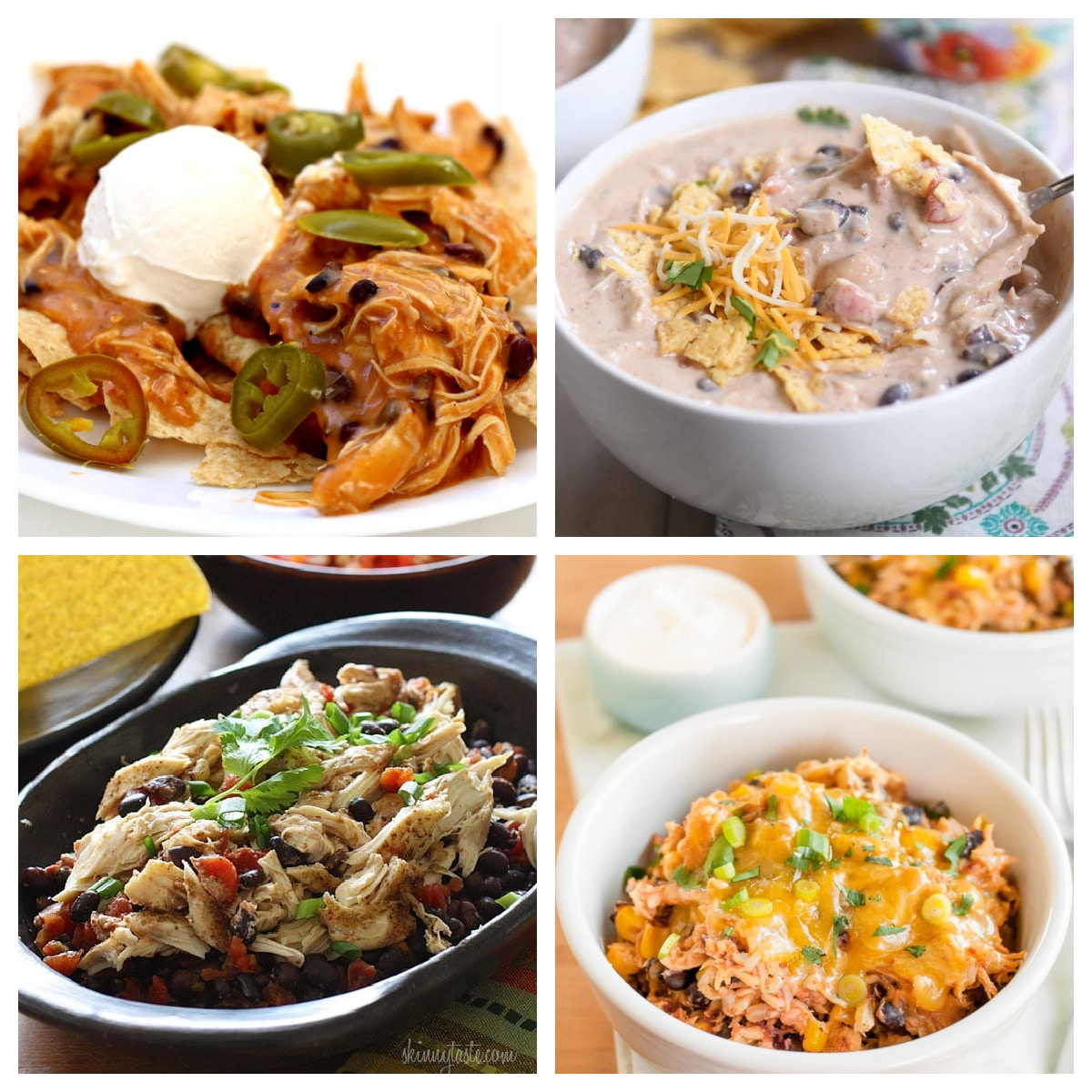 Slow Cooker and Instant Pot Family Dinners with Chicken and Black Beans top photo collage