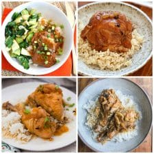 Slow Cooker or Instant Pot Filipino Chicken Adobo top photo collage