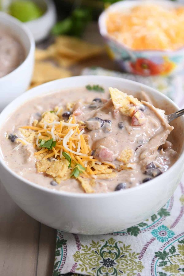 Instant Pot White Chicken Chili with Black Beans from Mel's Kitchen Cafe