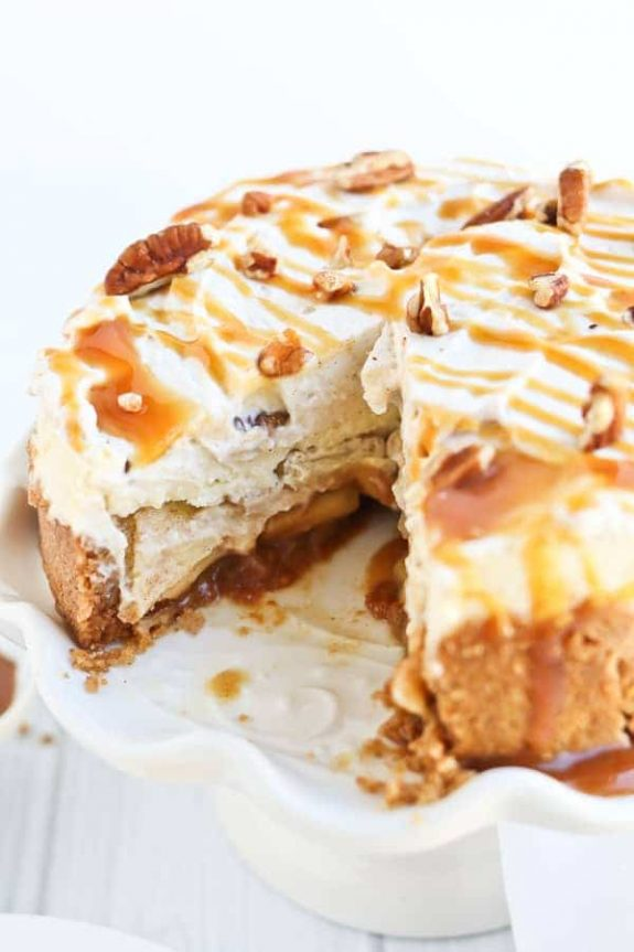 Instant Pot Caramel Apple Cheesecake from Tidbits