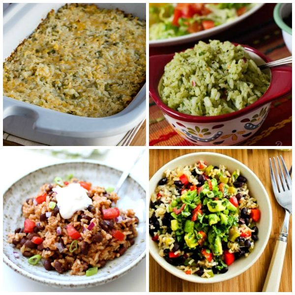 Instant Pot or Slow Cooker Recipes for Mexican Rice top photo collage