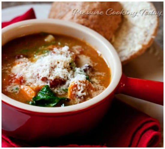 Ten Instant Pot Minestrone Soup Recipes Your Family Will Love featured on Slow Cooker or Pressure Cooker at SlowCookerFromScratch.com