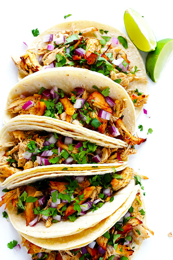 Slow Cooker Crispy Chicken Carnitas from Gimme Some Oven
