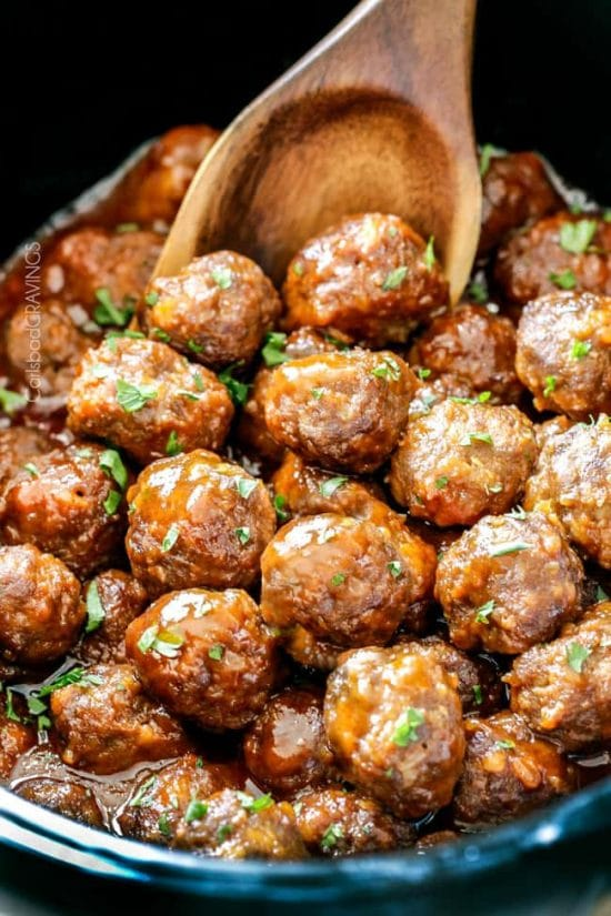 Honey Buffalo Meatballs from Carlsbad Cravings