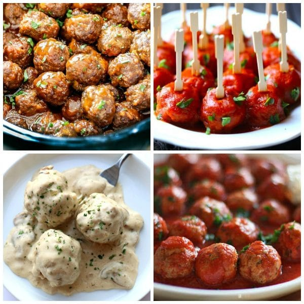 Amazing Slow Cooker Meatballs top photo collage