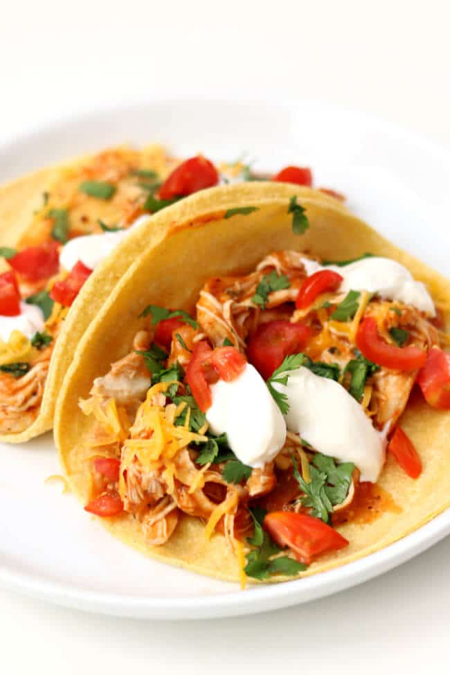 Instant Pot Chicken Tinga Tacos from 365 Days of Slow + Pressure Cooking